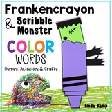 Halloween Color Word Games, Class Chart & Frankencrayon Writing Craft