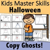 Halloween Color and Copy Ghosts Activity