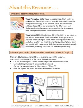Halloween Ghost Copying - Visual Perception Activity