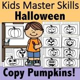 Halloween Pumpkin Copying - Visual Perception Activity