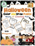Halloween Color and Draw Pages -  Coloring and Drawing Activity