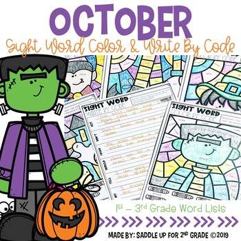 Halloween Color and Write by Code
