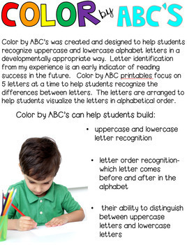 Halloween Color by ABC's (Uppercase and Lowercase)