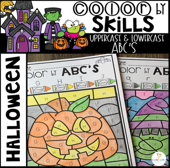 Halloween Color by Code ABC's (Uppercase and Lowercase)