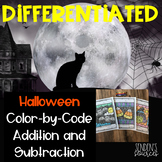 Halloween Color by Code Adding and Subtracting
