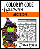 Halloween Color by Code: Addition