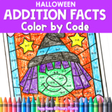 Halloween | Color-by-Code Addition | Color by Number