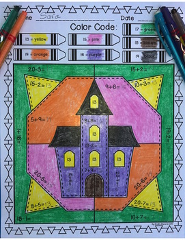 Halloween Color by Code:  Addition and Subtraction