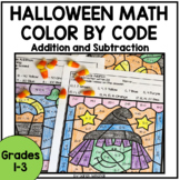 Halloween Activities Color by Number Addition and Subtraction