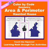 Halloween Color by Code: Area and Perimeter: Count Squares
