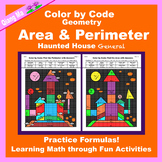 Halloween Color by Code: Area and Perimeter: Practice Form