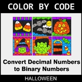 Halloween Color by Code - Binary Numbers