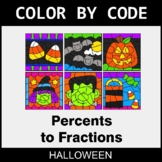 Halloween Color by Code - Converting Percents to Fractions