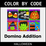 Halloween Color by Code - Domino Addition