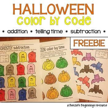 Halloween Color by Code FREEBIE