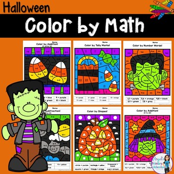 Halloween Color by Code Math Activities