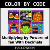 Halloween Color by Code - Multiplying by Powers of Ten Wit