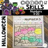 Halloween Color by Code Numbers 11-20 Teen Number Activities