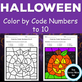 UPDATED Halloween Color by Code Numbers to 10 Activities