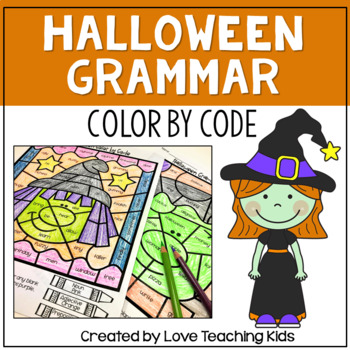 Halloween Color by Code- Parts of Speech