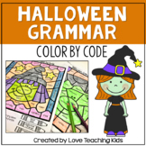 Halloween Grammar Coloring Pages Parts of Speech