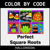 Halloween Color by Code - Perfect Square Roots