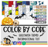 Halloween Color by Code: Reading Comprehension (Halloween Activity)
