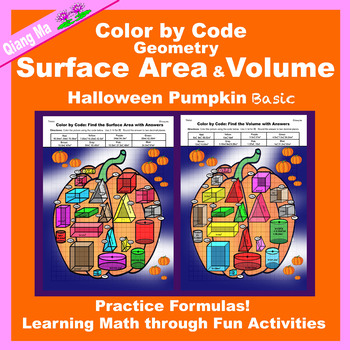Halloween Color by Code: Surface Area and Volume Basic: Pumpkin