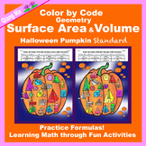 Halloween Color by Code: Surface Area and Volume Standard: Pumpkin