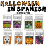 Halloween Color by Code in Spanish