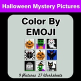 Halloween: Color by Emoji - Mystery Pictures