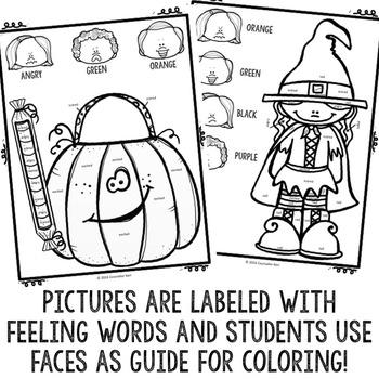 Halloween ColorbyFeeling Printables