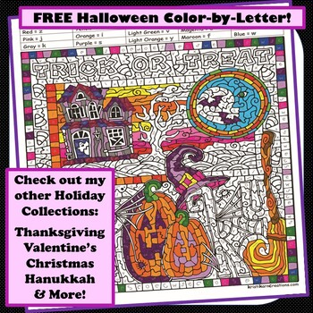 Halloween Color-by-Letter Picture Puzzle