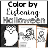 Halloween Color by Listening (A Following Directions Activity)