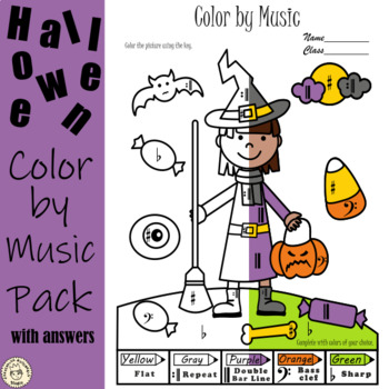 Halloween Color by Music Pack