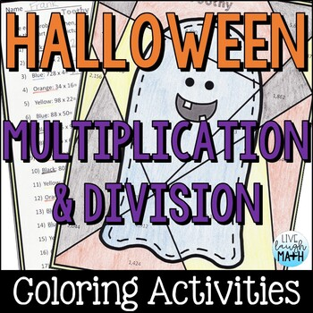 Halloween Math: Multiplication and Division Color by Number by Live Laugh Math