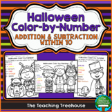 Halloween Color by Number, Addition & Subtraction Within 10