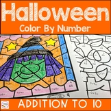 Halloween Math Color by Number Addition