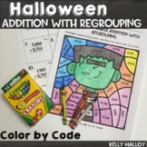 Halloween Color by Number Addition and Subtraction With Re