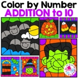Halloween Color by Number Addition to 10 | Halloween Addit