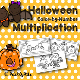 Halloween Color-by-Number Multiplication
