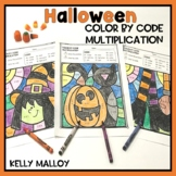 Halloween Color by Number Multiplication Facts
