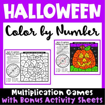 Halloween Color By Number Multiplication Games Bonus Halloween Math