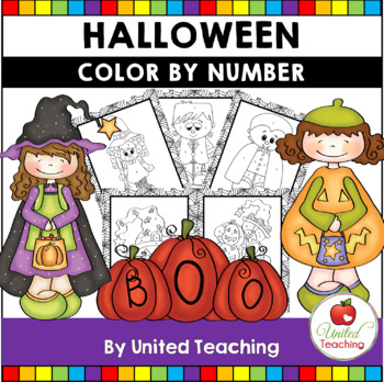 Halloween Color by Number Packet