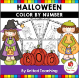 Halloween Math - Color By Number (Free)