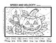 Speed and Velocity Color by Number Halloween