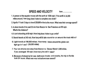 Halloween: Color by Number Speed and Velocity