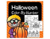 Halloween Color-by-Number Sheets