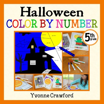 Halloween Color by Number (fifth grade) Color by Multiplic