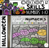 Halloween Color by Numbers 1-10 Activities